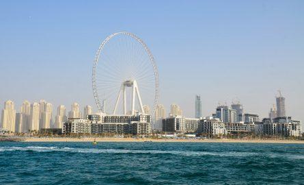 Dubai Ain auf der Insel Bluewaters