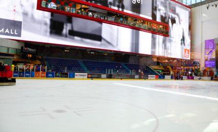 Der Eislaufplatz Ice Rink in der Dubai Mall