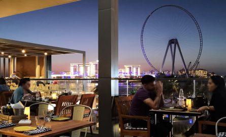 Restaurant mit Blick auf das Ain Dubai
