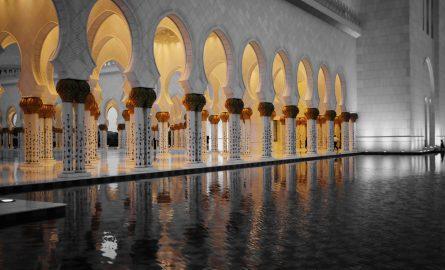 Scheich Zayed Moschee Wasserspiele