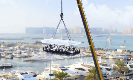 Kulinarisches Highlight in Dubai mit dem Dinner in the Sky