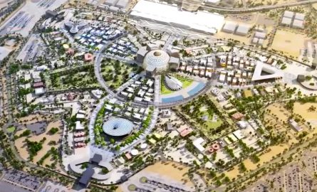 Das Geländer der Expo 2020 in Dubai