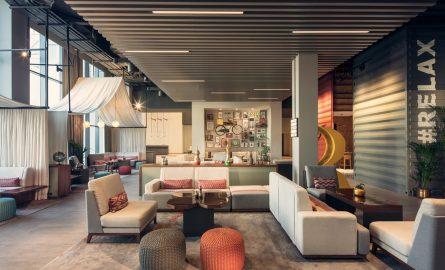 Das moderne Rove Hotel befindet sich in direkter Nähe zum Burj Khalifa