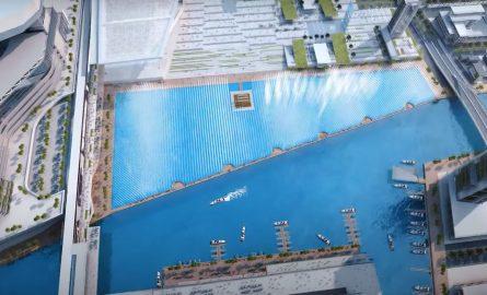 Meydan One Wasserspiele in Dubai