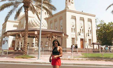Fotoshooting vor der Jumeirah Mosque
