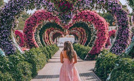 Fotoshooting im Miracle Garden Dubai