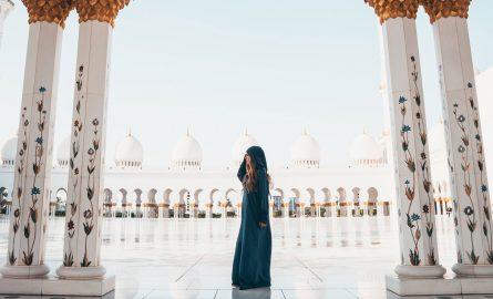 Fotoshooting bei der Abu Dhabi Moschee