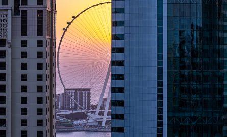 Die ersten Kapsel auf dem Ain Dubai